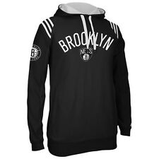 Brooklyn Nets MENS Sweatshirt Pullover Hood 3-Stripe by Adidas NWT