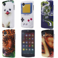 Dog Kiss Leopard Skull Flag Image Hard Back Fit Cover Case for LG Google Nexus 5