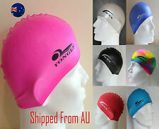 Men Women Adults Silicone Swim Swimming Cap Hat 100% Silicone SMC01