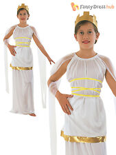 Girls Greek Goddess Costume Roman Toga Outfit Book Week Kids Child Fancy Dress