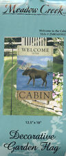 Welcome Decorative Yard Flag Banner Wine Moose Cabin Apples Cardinals 12.5 x 18