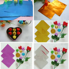 Hotsale Sweets Candy Chocolate Lollipop Cake Making Pack Foil Wrappers 100Pcs