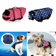 Polka Dots Pet Dog Life Jacket Vest Safety Vest Aid Buoyancy Swimming Water dfp