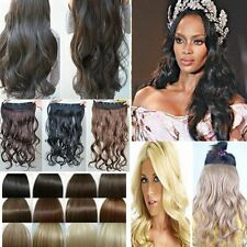 black brown blonde Sexy Curly 16 Clip in Human Stylish Hair Extensions Pieces