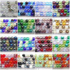 Czech Glass Round Druk Beads 4mm 6mm 8mm All Sizes & Colours