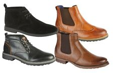 MENS BOYS SUEDE LEATHER LACE UP DESERT HIGH QUALITY CASUAL DESERT BOOT SIZE 7-11