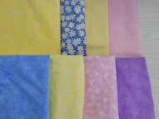 "Quilting filler small print calico 100% cotton woven fabric pastels 1 yd x 44""w"