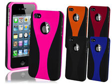 NEW STYLISH DUAL COLOUR SERIES CASE COVER FOR IPHONE 4 4S
