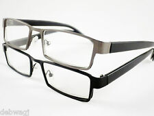 GENTS MENS DESIGNER Gun Metal / Black READING GLASSES 1.0 1.5 2.0 2.5 3 Trendy