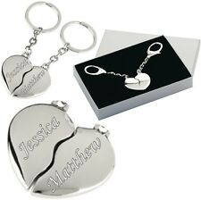Personalised Heart Keyring Valentines Gift