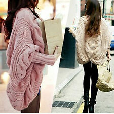 Casual Women Batwing Loose Knit Sweater Coat Jacket Tops Outwear  Shawl Cardigan