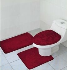 3 PCS BATHROOM RUG, CONTOUR RUG AND LID COVER SET, HAILEY BATHROOM RUG SET, BY