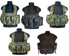 ARMY STYLE TACTICAL CHEST RIG AIRSOFT PAINTBALL GREEN BLACK DPM FLECKTARN
