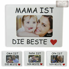 """Cadre Image Photo """"Oma Opa Mama Papa ist der beste"""" 10x15 Famille Photo"""