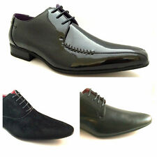 Brand New Mens leather lined formal Lace Up Shoes Patent Plain Suede Size 6 - 11