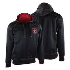 Affliction Sport Body Space Zip Up Hoodie (Black/Red) - gym training mma ufc