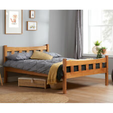 Happy Beds Miami Wooden Bed Antique Pine Double Bolted Bedroom Furniture New