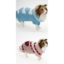 Pet Dog Puppy Turtleneck Sweater Knitwear Clothes Coat with Bone / Heart Pattern