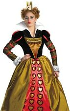Adult Alice in Wonderland RED QUEEN OF HEARTS Costume * S 4-6, M 8-10, L 12-14