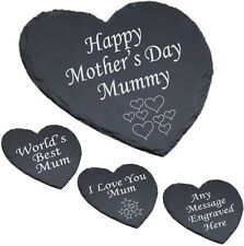 Personalised Heart Slate Cheese Board Mothers Day Mother's Day Gift Engraved