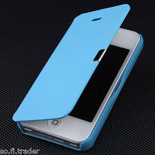 Hot Sale For iPhone 5 5G, 4 4S Magnetic Flip Hard Case Cover PU Leather  Wallet