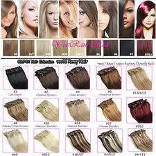 Clip in Remy Human Hair Extensions, Full Head 100% human hair UK all lengths new