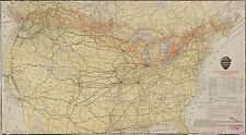 1912 HUGE CANADIAN PACIFIC RAILWAY MAP OF US & CANADA Largest Sizes