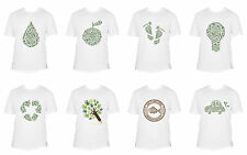 Eco Friendly Concept Green Printed 100% Cotton Regular Fit Men T-shirt Tee S-XXL