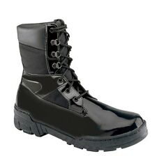 "Thorogood Men 8"" Commando Plus Gloss Black Leather Law Enforcement Boot 831-6823"