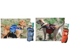 Henry & Clemmie s Travel Pack for Dog - Blue - Red - S to XL - Adjustable buckle