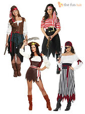 Ladies Pirates Fancy Dress Costume Caribbean Pirate Lady Womens Outfit