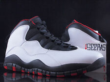 Nike Air Jordan 10 X Retro Chicago BULLS SZ 9 -12 310805 100 Red White Black DS