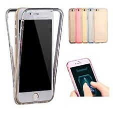 FRONT & BACK TPU BOOK FLIP GEL SILICONE CASE COVER FOR APPLE iPHONE 5 5S UK