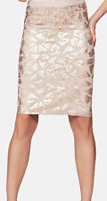 Size 18, 20, gold sequin elastic waist skirt, Definitions, ex-catalogue, plus