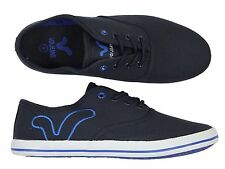 MENS NEW VOI JEANS FIERY NAVY COLOUR LACE-UP PLIMSOLLS TRAINERS ALL SIZES
