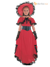 Girls Scarlett O'Hara Victorian Costume Gone With The Wind Fancy Dress Book Week