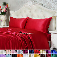 19 Momme 100% Pure Silk Pillowcase Pillow Cover Standard Queen King 20 colors