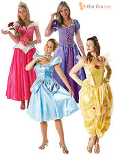 Official Ladies Deluxe Disney Princess Fairytale Costume Adult Womens Outfit