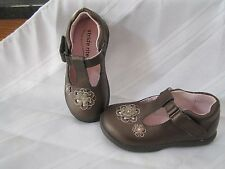 Stride Rite Dress Shoes Girls Shoe Toddler Larissa Dark Brown T Strap Leather