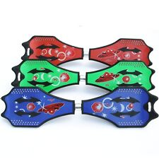 Two Rainbow Wheels Skateboard RipStik Caster Board Wave Board Vigor Board