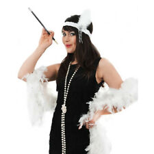 5 PIECE LADIES FLAPPER COSTUME 1920'S BLACK FANCY DRESS COSTUME ACCESSORY KIT