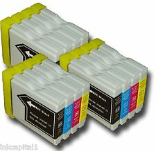 12 x Inkjet Cartridges ( 3 Sets ) Compatible With Brother LC123 - B,C,M & Y