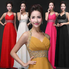 Elegant Chiffon Bridesmaid Dress Evening Cocktail Party Prom Gown Formal Ball