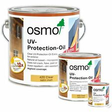 Osmo UV Protection Oil Extra 420 Clear Satin For Exterior Doors/Windows/Cladding