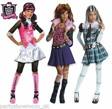Child's Girl's Official Monster High Fancy Dress Costume choice + FREE  PS