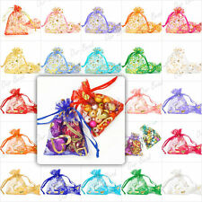 Favour Wedding Party Organza Drawstring Gift Jewellry Bag Pouch 9x7cm 10 Colours