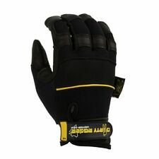 DIrty Rigger Leather Grip Gloves UK Pro Leather Black Stage Theater Lighting