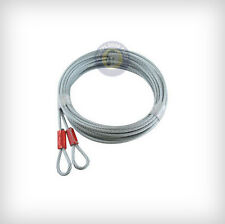 "Garage Door Cables 1/8"" (Pair) For Extension Spring Doors  (7ft, 8ft, 9ft)"
