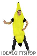 ADULTS BANANA FANCY DRESS COSTUME FRUIT NOVELTY OUTFIT FOOD STAG NIGHT PARTY FUN