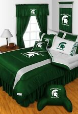 MICHIGAN STATE SPARTANS SIDELINES COMFORTER AND SHEET SET COMBO - 19-0626-combo